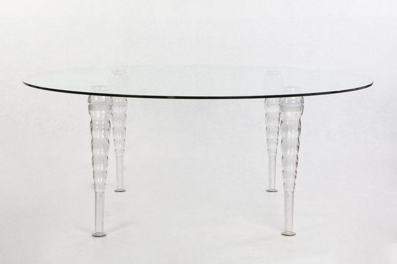 Mesa de cristal redonda para banquete para 8 10 comensales for Mesa 8 comensales